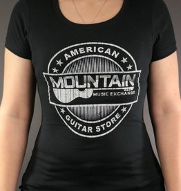 MME MME 'American Guitar Store Distressed Logo' Women's Tee - Black - S