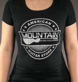 MME MME 'American Guitar Store Distressed Logo' Women's Tee - Black - L