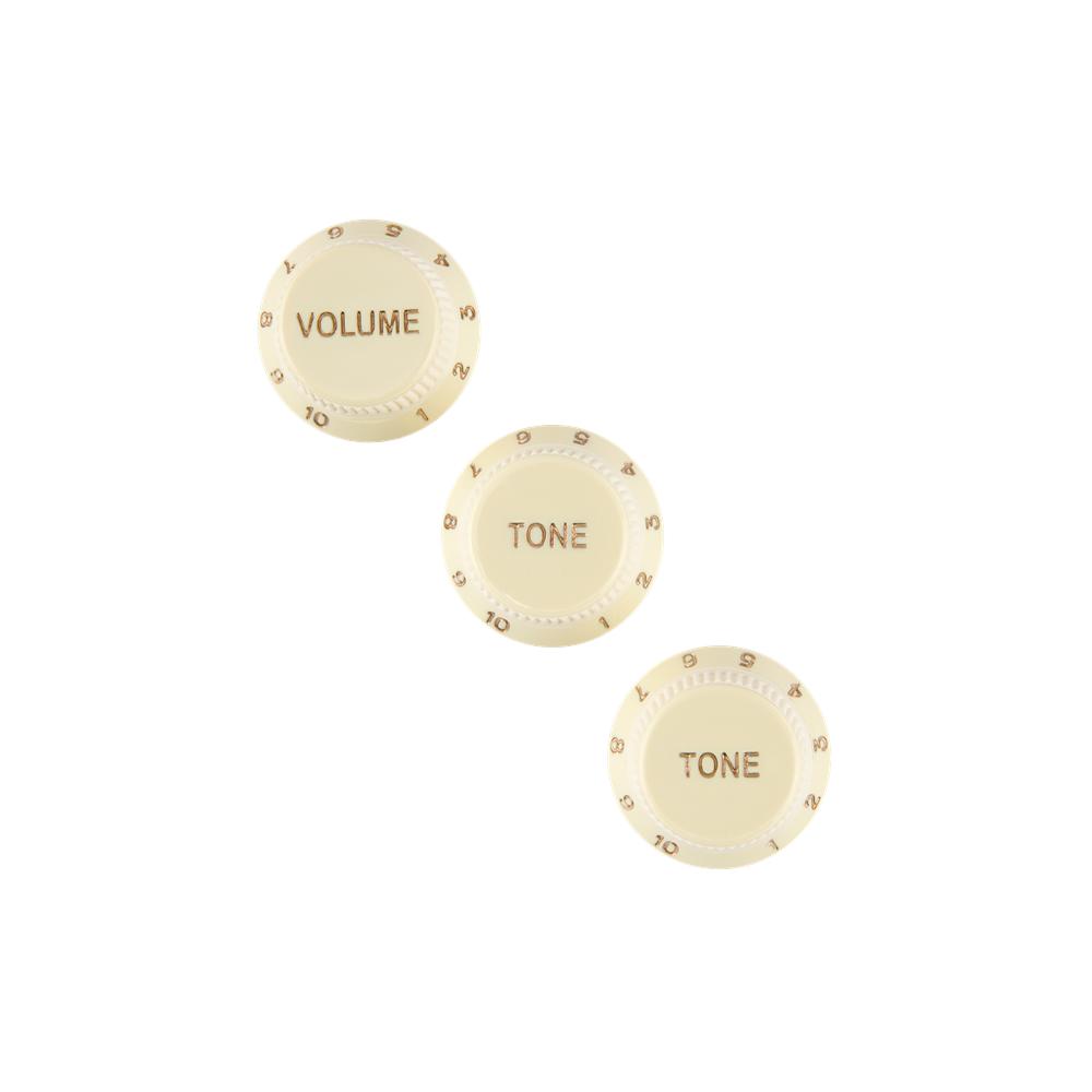 Fender NEW Fender Stratocaster Soft Touch Knobs - Aged White