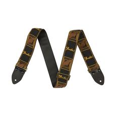 Fender NEW Fender Legacy Monogram Strap - Black/Yellow/Brown