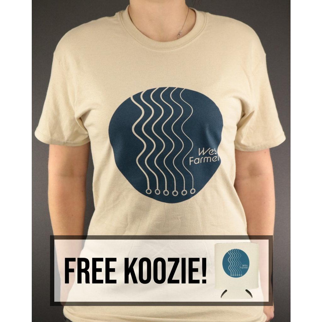 Local Music NEW Wes Farmer T-Shirt w/ Koozie - Tan - XL
