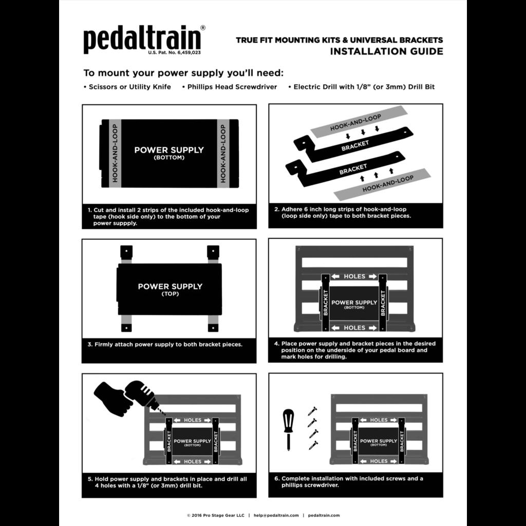 Pedaltrain NEW Pedaltrain True Fit Mounting Bracket Kit - Small