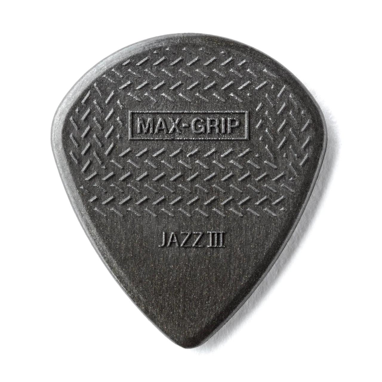 Dunlop NEW Dunlop Picks - Max Grip Jazz III - 24 Pack