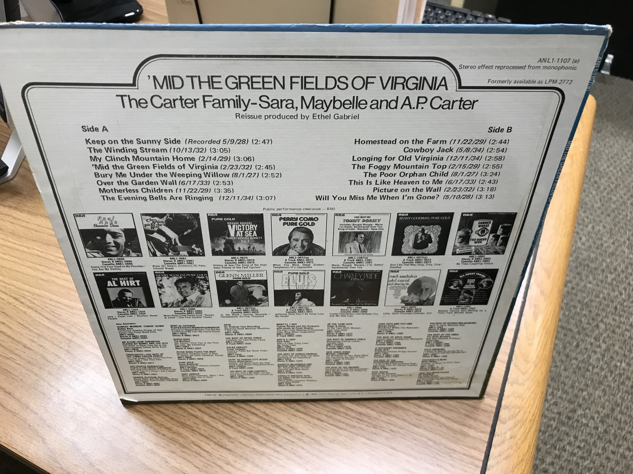 Vinyl The Carter Family ‎– 'Mid The Green Fields Of Virginia -LP
