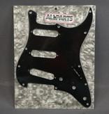 Allparts NEW Allparts Stratocaster Pickguard - Black 3-Ply - 11-Hole