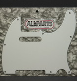 Allparts NEW Allparts Telecaster Pickguard - White 3-Ply - 8-Hole