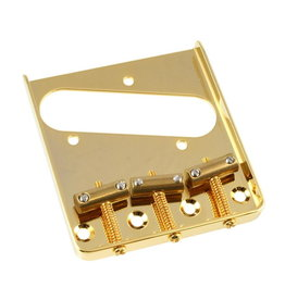 Allparts NEW Allparts Vintage-Style Compensated Saddle Bridge for Telecaster - Gold