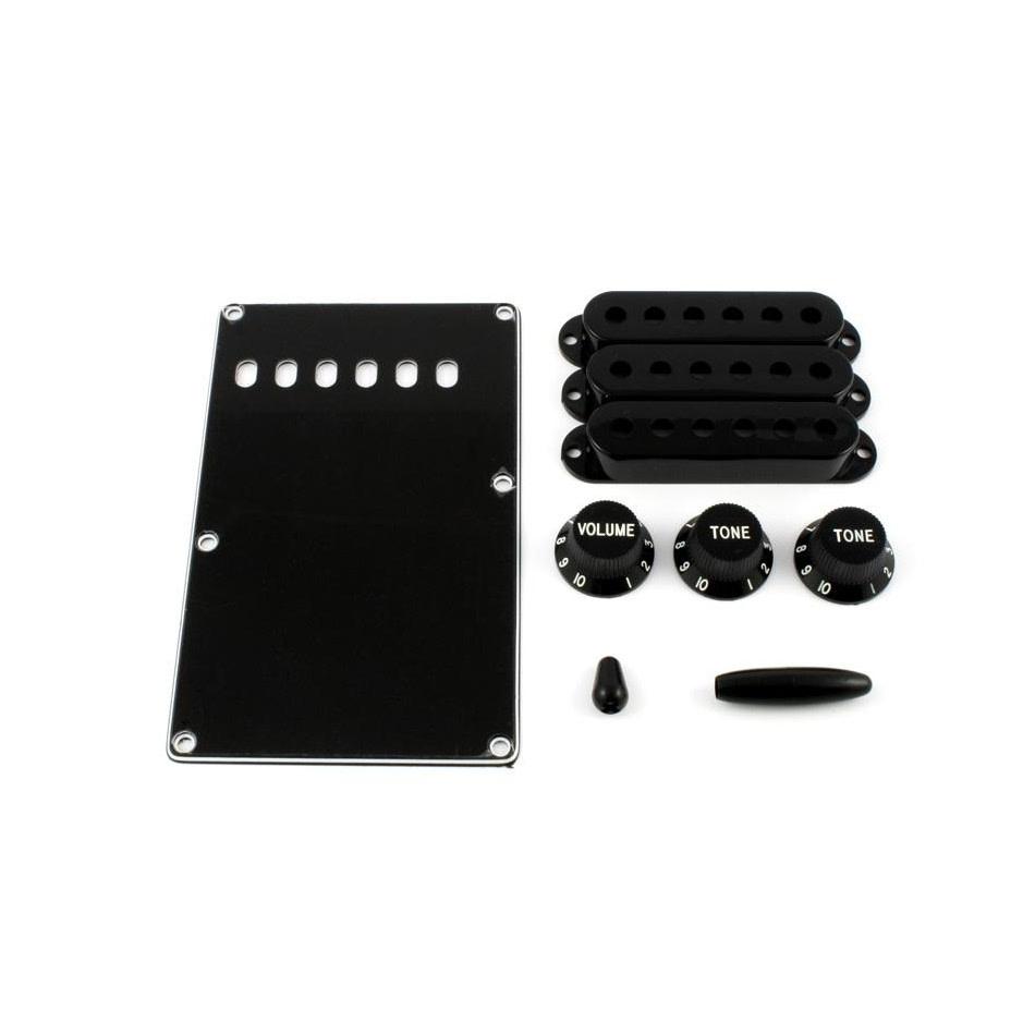 Allparts NEW Allparts Accessory Kit for Stratocaster - Black