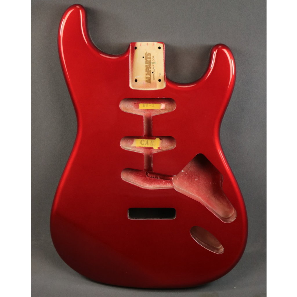 Allparts NEW Allparts SBF-CAR Stratocaster Body - Candy Apple Red (100)