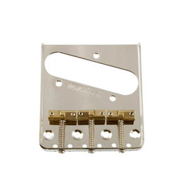 Allparts NEW Wilkinson Staggered Saddle Bridge for Telecaster - Nickel