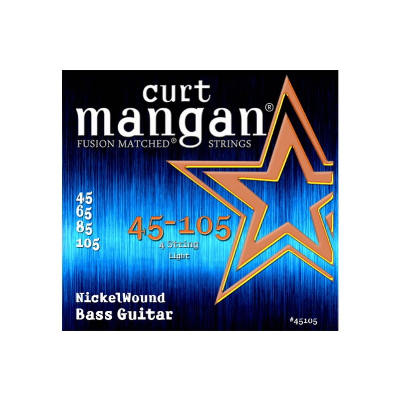 Curt Mangan NEW Curt Mangan Nickel Wound Bass Strings - .045-.105