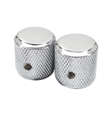 Fender NEW Fender Pure Vintage '60s Telecaster Knurled Knobs - Chrome - Pack of Two