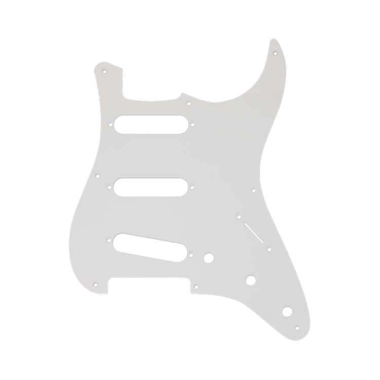 Fender NEW Fender Stratocaster Pickguard -  S/S/S - 8-Hole Mount - White - 1-Ply