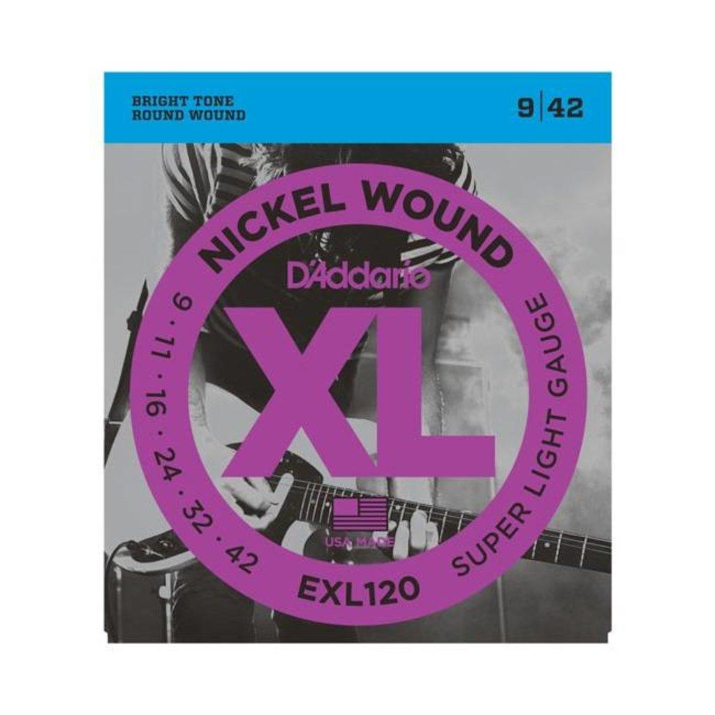 D'Addario NEW D'Addario EXL120 Nickel Wound Electric Strings - Super Light  - .009-.042