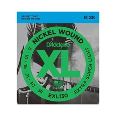 D'Addario NEW D'Addario EXL130 Nickel Wound Electric Strings - Extra Super Light - .008-.038