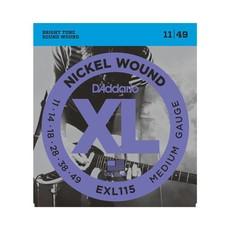 D'Addario NEW D'Addario EXL115 Nickel Wound Electric Strings - Medium  - .011-.049