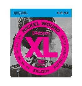D'Addario NEW D'Addario EXL120+ Nickel Wound Electric Guitar Strings - Super Light Plus - .0095-.044