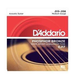 D'Addario NEW D'Addario EJ17 Phosphor Bronze Acoustic Strings - Medium - .013-.056
