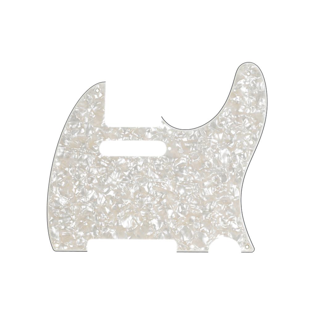 Fender NEW Fender Telecaster Pickguard - 4-Ply - Aged White Pearl