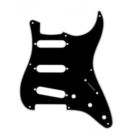 Fender NEW Fender Stratocaster Pickguard - S/S/S - 8-Hole Mount - Black - 3-Ply