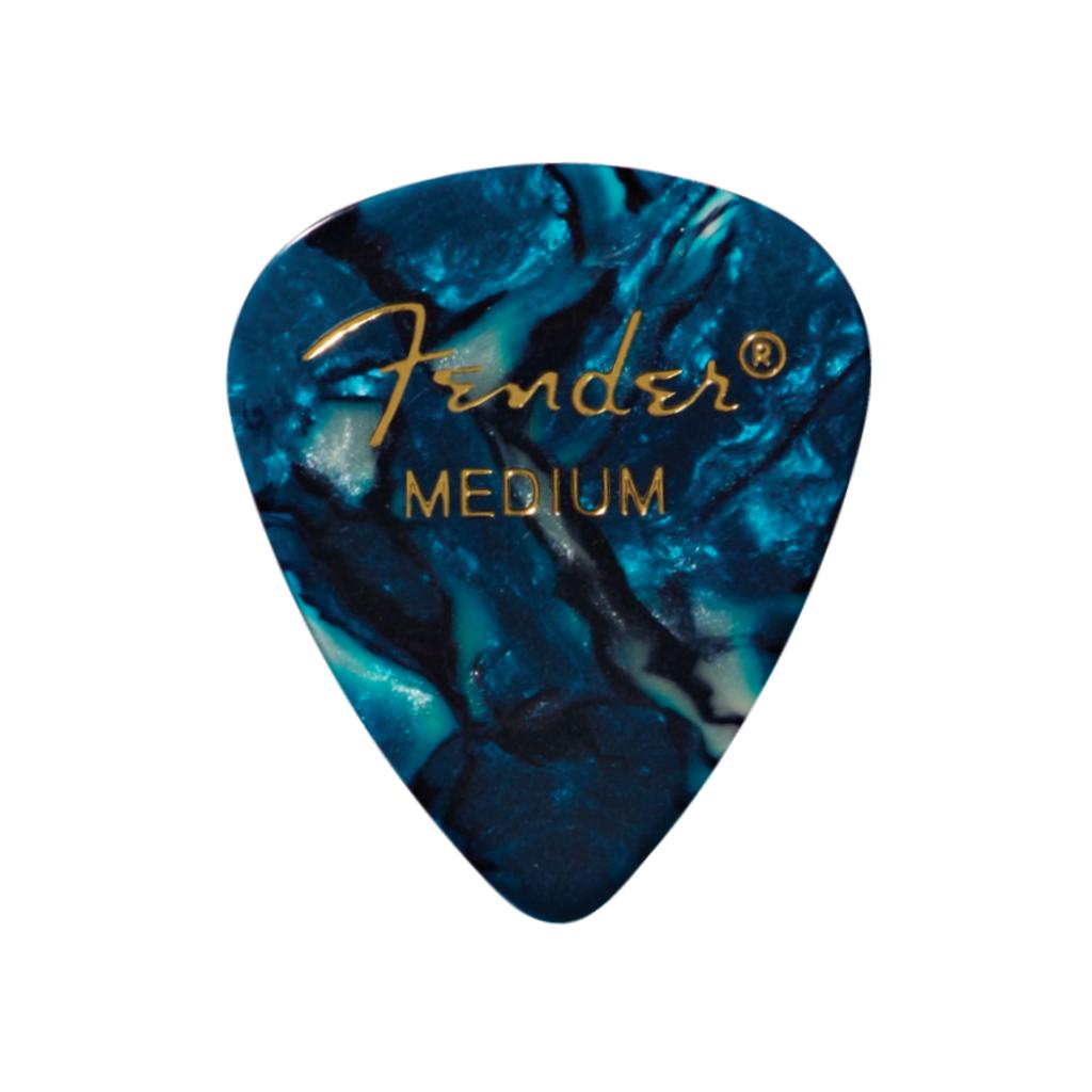 Fender NEW Fender Premium Celluloid 351 Picks - Medium - Ocean Turquoise - 12-Pack