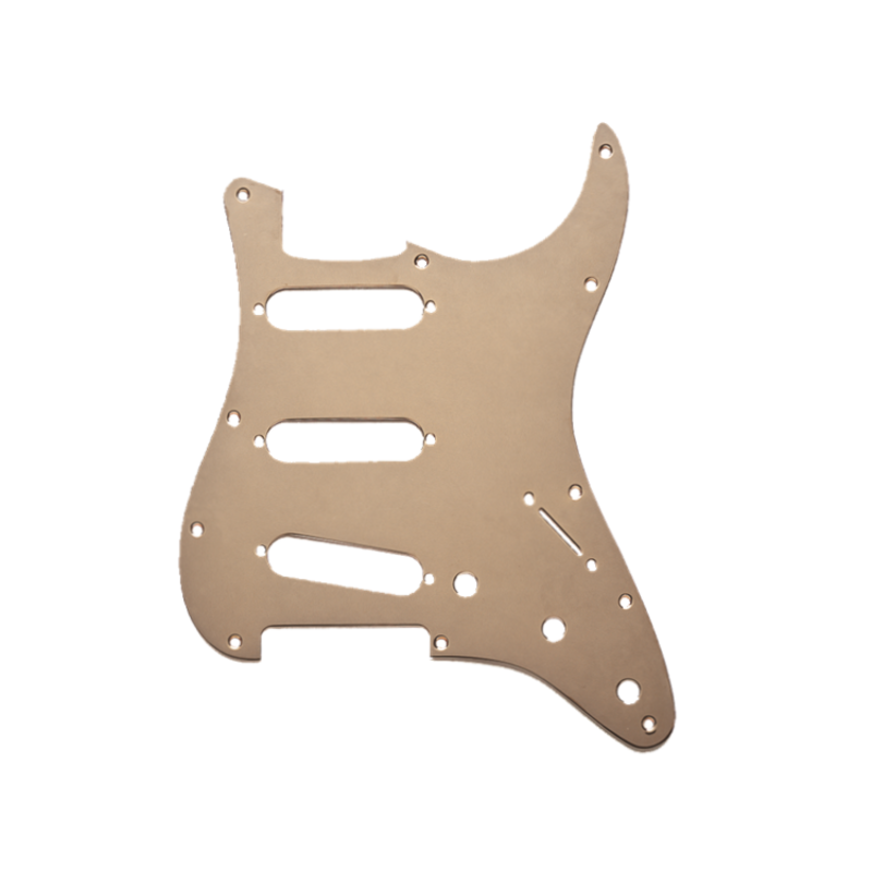 Fender NEW Fender Stratocaster Pickguard - 11 Hole - Gold Anodized