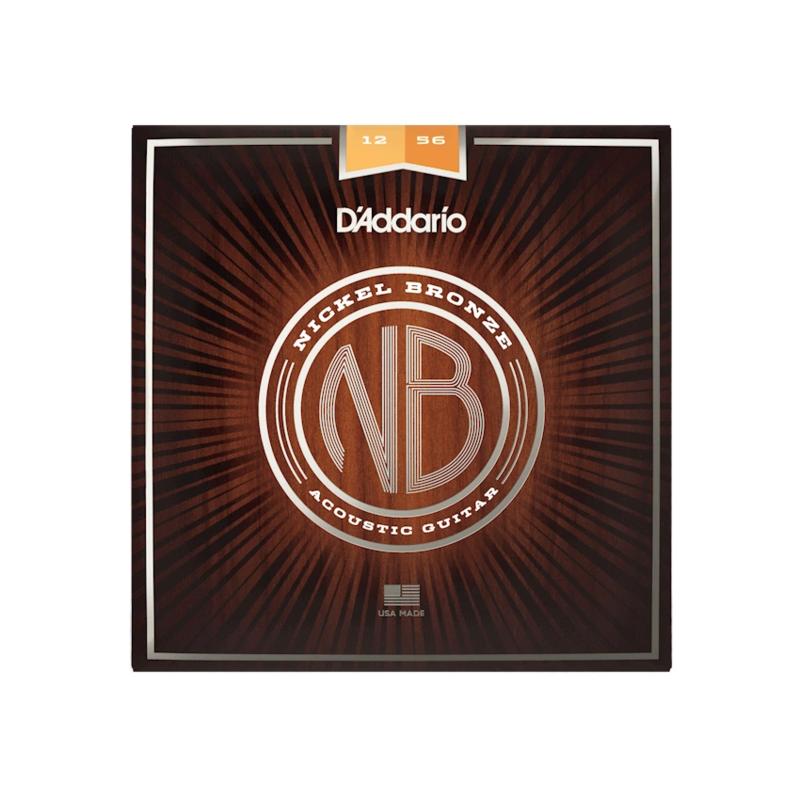 D'Addario NEW D'Addario Nickel Bronze Acoustic Strings - Light Top/Medium Bottom - .012-.056
