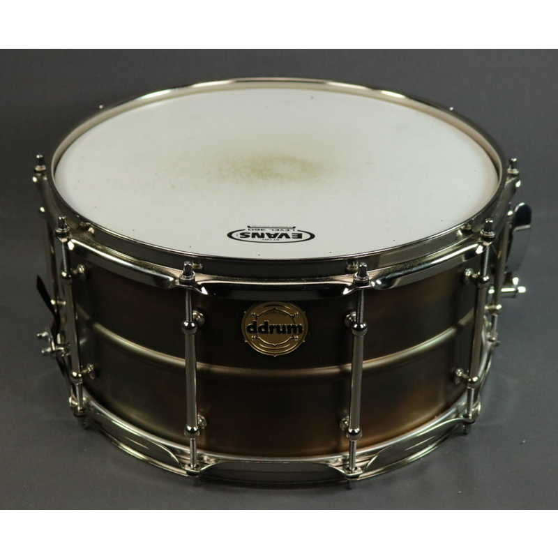"ddrum USED ddrum Modern Tone BKB Patina Snare - 7""x14"""