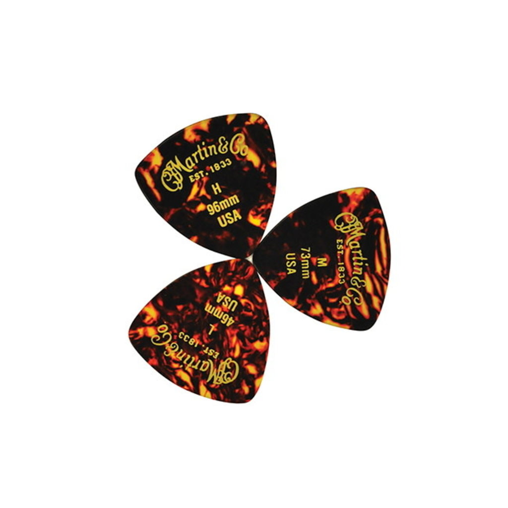 Martin NEW Martin #2 Guitar Picks - .96mm Heavy - 12 Pack