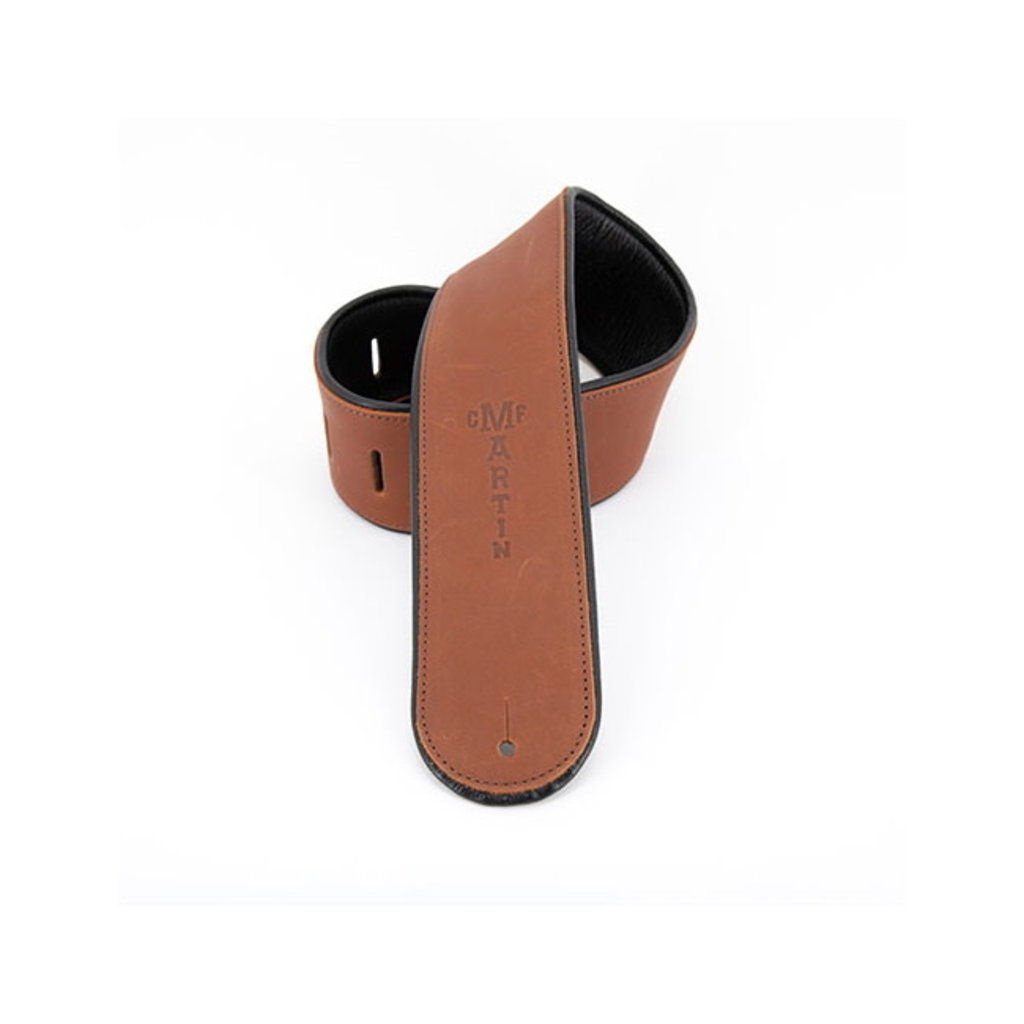 Martin NEW Martin Rolled Leather Guitar Strap - Brown