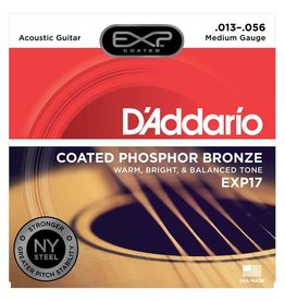 D'Addario NEW D'Addario EXP17 Coated Phosphor Bronze Acoustic Guitar Strings - Medium - .013-.056