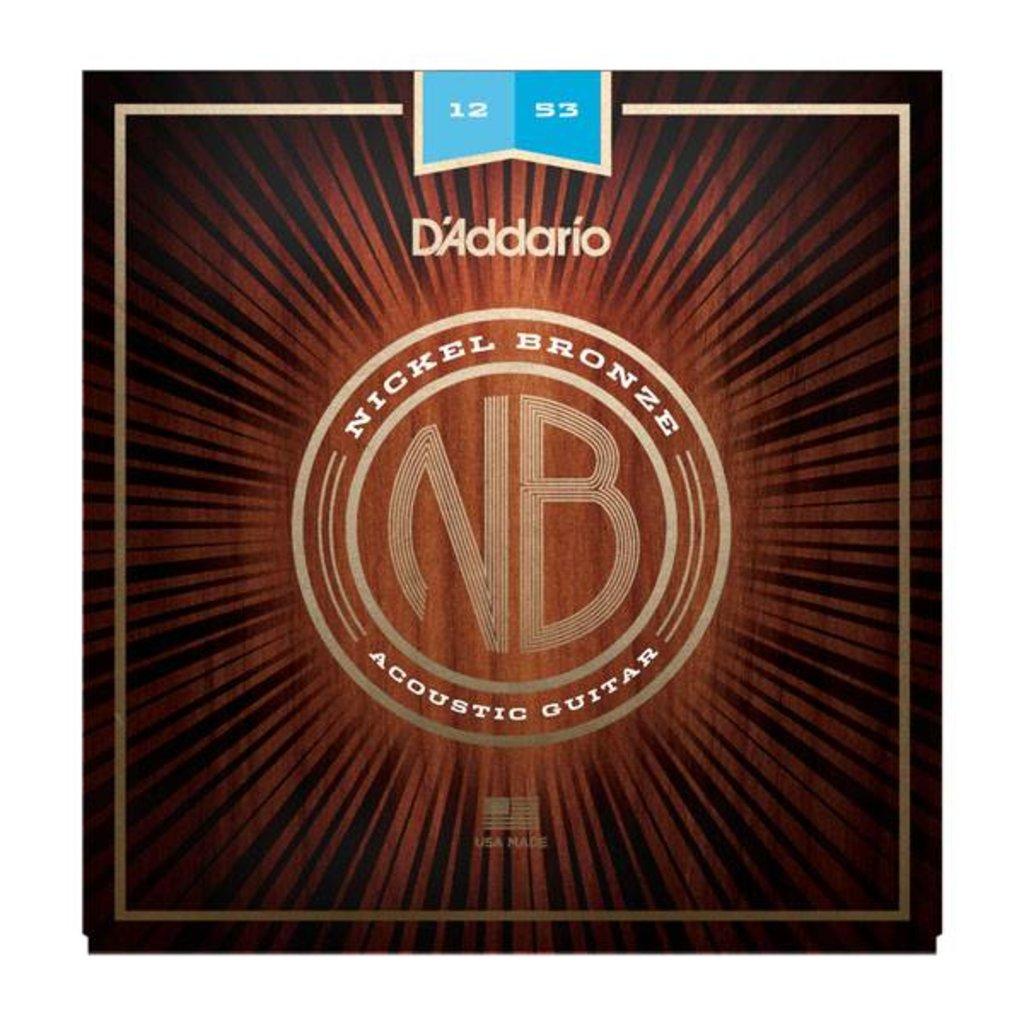 D'Addario NEW D'Addario Nickel Bronze Acoustic Strings - Light - .012-.053