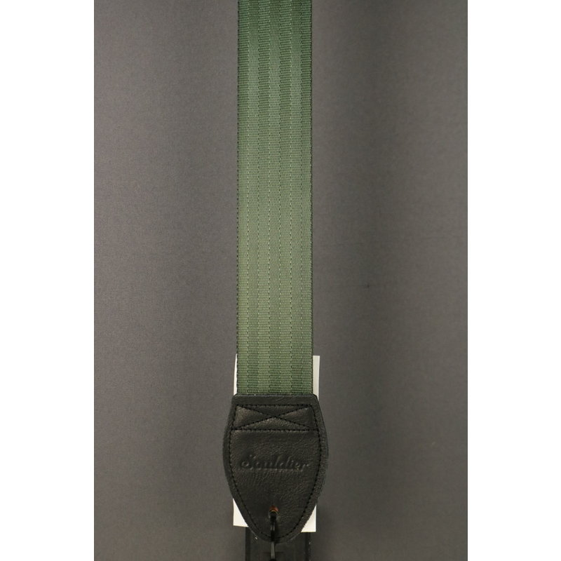 Souldier NEW Souldier Guitar Strap - Plain Seat Belt - Green