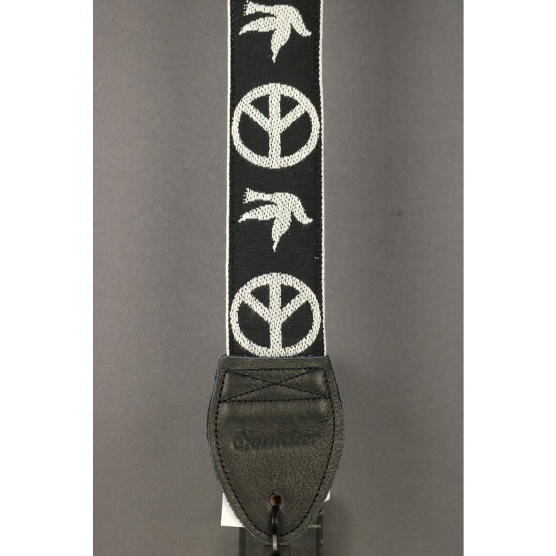 Souldier NEW Souldier Guitar Strap - Peace Dove - Black/White