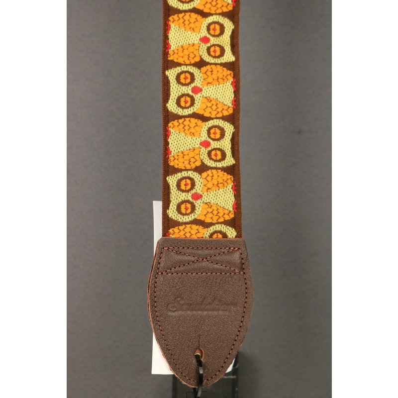 Souldier NEW Souldier Guitar Strap -  Brown Owls