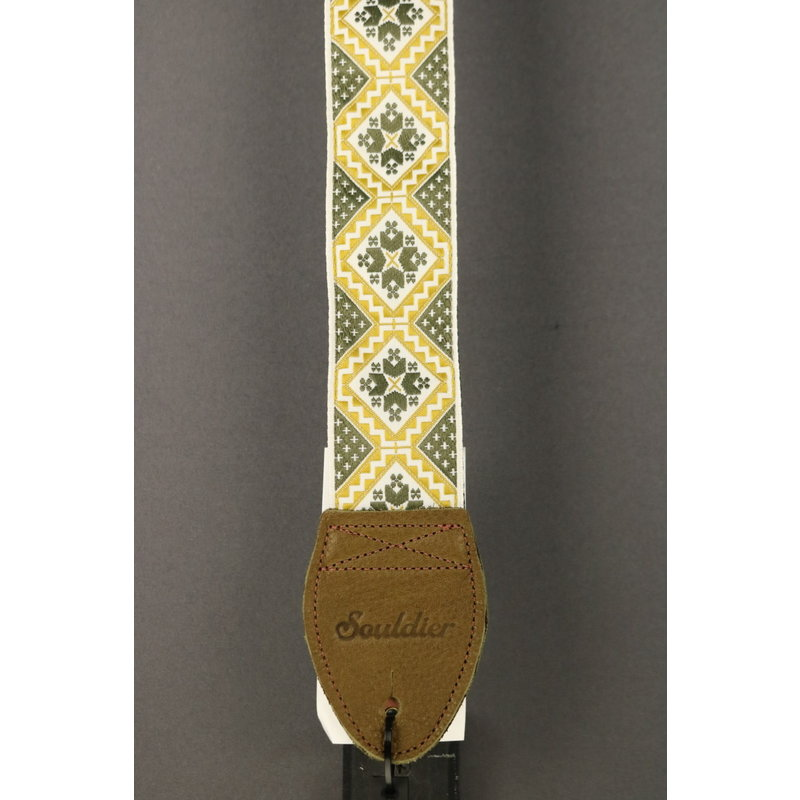 Souldier NEW Souldier Guitar Strap - Rustic - Charcoal/Gold