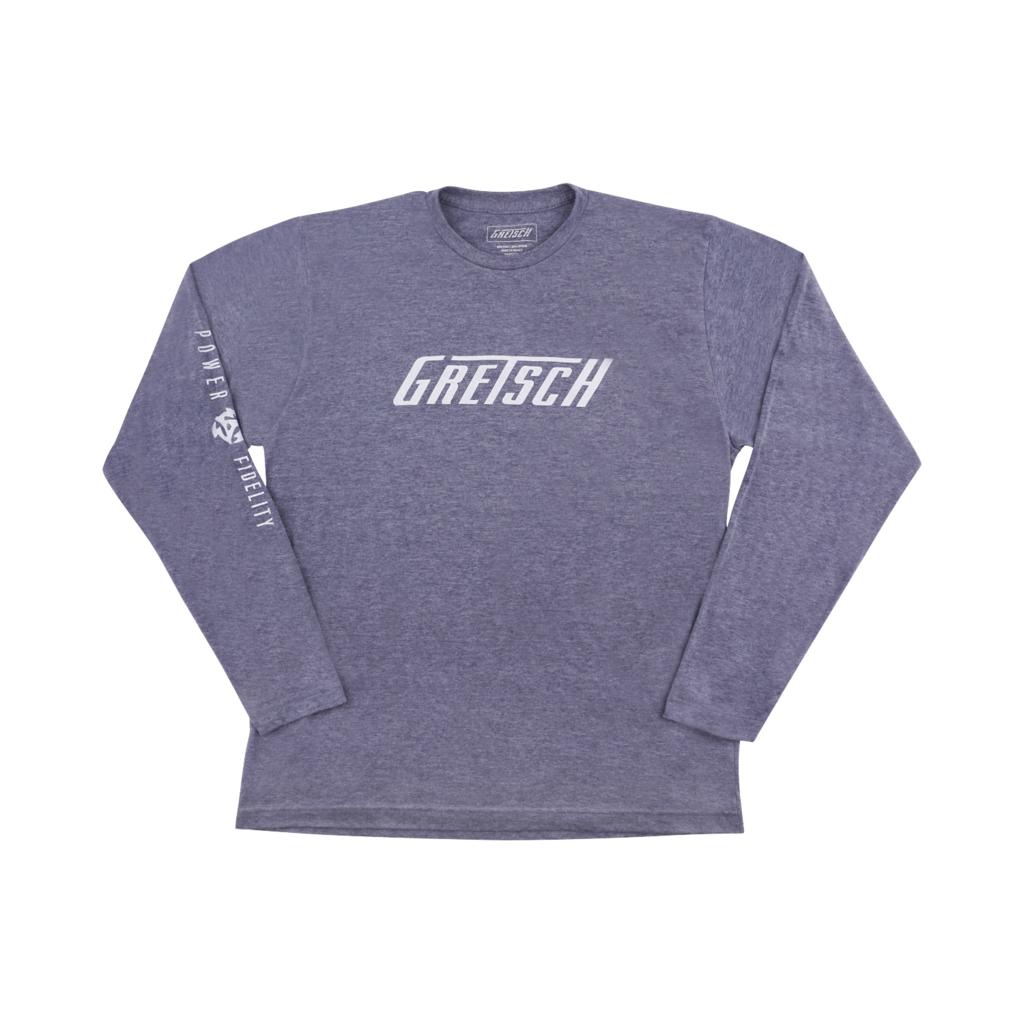 Gretsch NEW Gretsch Power and Fidelity Long Sleeve T-Shirt - Grey - XXL