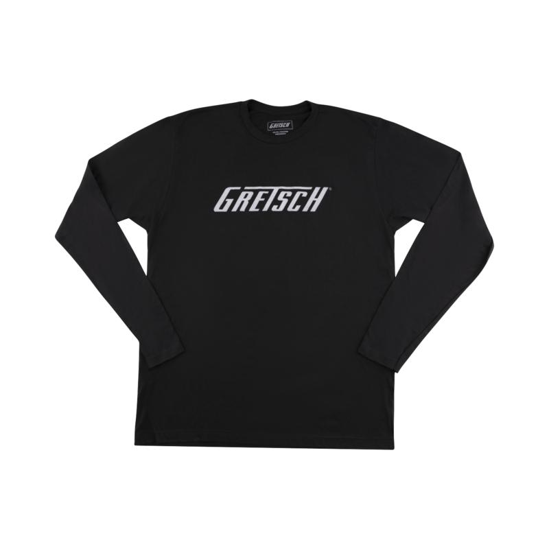 Gretsch NEW Gretsch Long Sleeve Logo T-Shirt - Black - XL