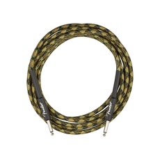 Fender NEW Fender Professional Series Instrument Cable - Straight/Straight - Woodland Camo - 18.6'