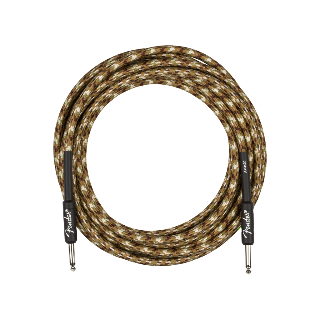 Fender NEW Fender Professional Series Instrument Cable - Straight/Straight - Desert Camo - 18.6'