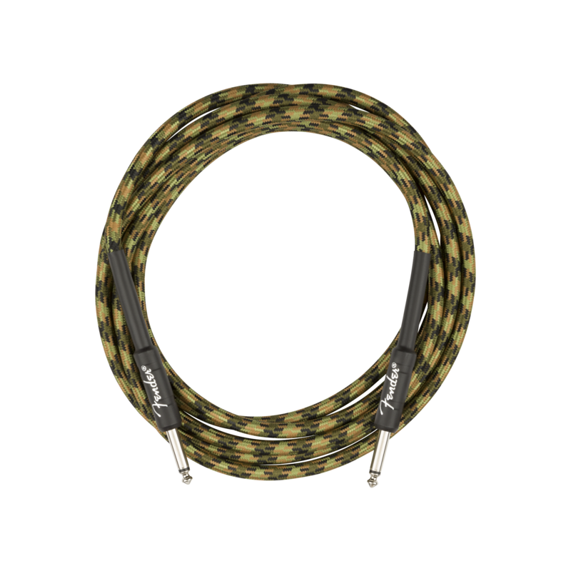 Fender NEW Fender Professional Series Instrument Cable - Straight/Straight - Woodland Camo - 10'