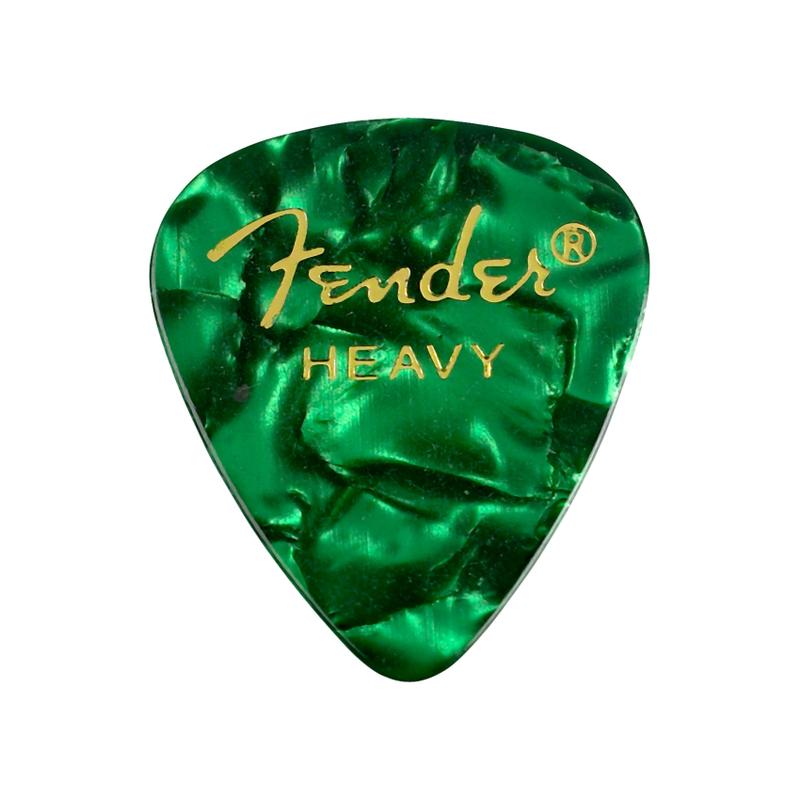 Fender NEW Fender 351 Shape Picks - Green Moto - Heavy - 12-Pack