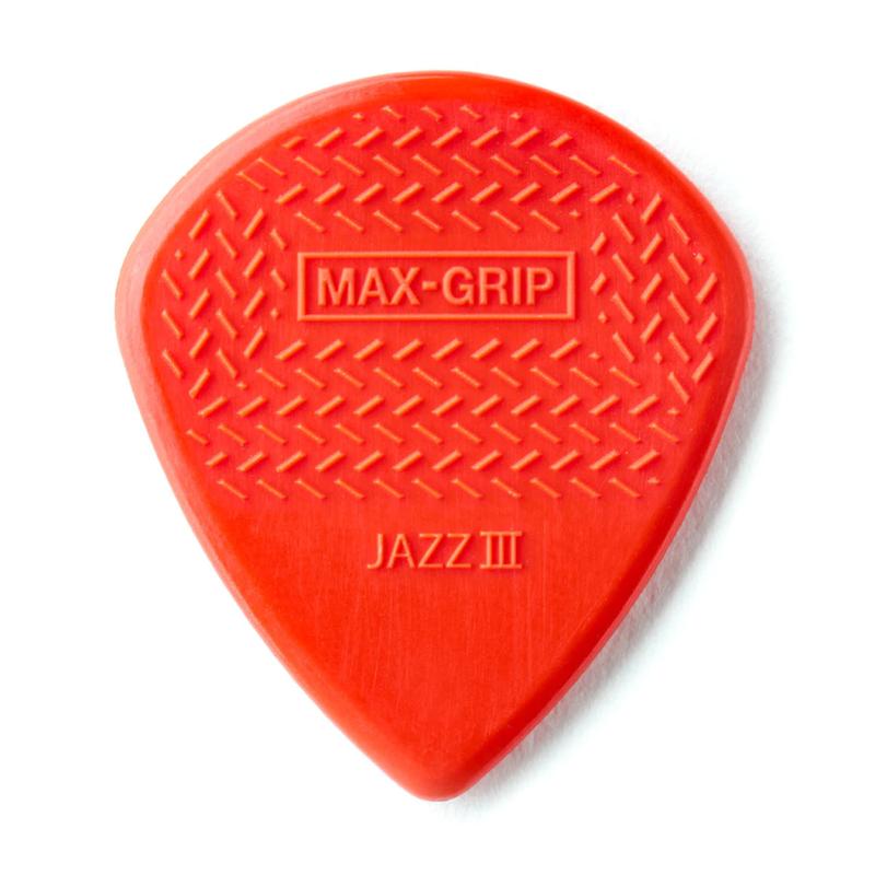 Dunlop NEW Dunlop Nylon Max Grip Jazz III Picks - 1.38 mm - 6-Pack