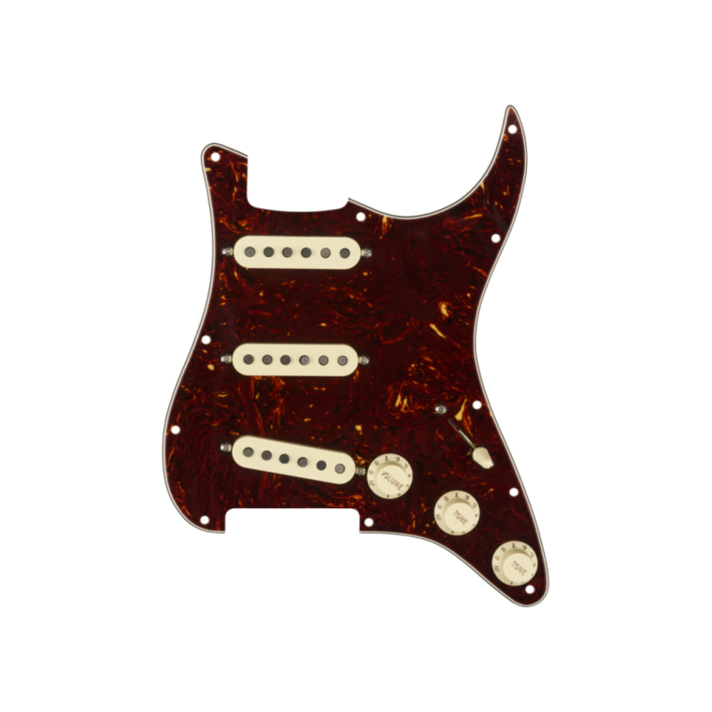 Fender NEW Fender Pre-Wired Strat Pickguard - Tex-Mex - Tortoise Shell