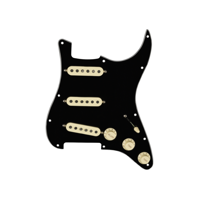 Fender NEW Fender Pre-Wired Strat Pickguard - Tex-Mex - 11 Hole - Black