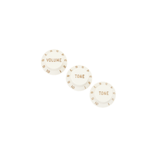 Fender NEW Fender Stratocaster Knobs - Parchment - Pack of 3