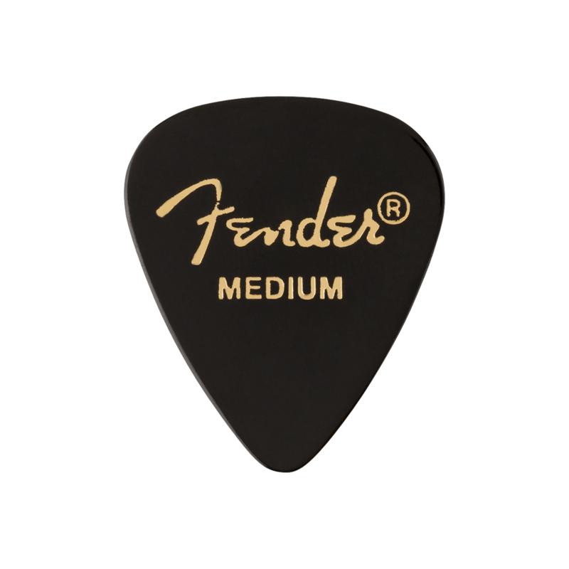 Fender NEW Fender 351 Shape Premium Picks - Medium - Black - 12 Count