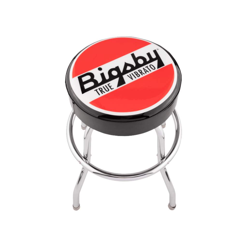 Fender NEW Bigsby Round Logo Barstool - Black/Red/ White