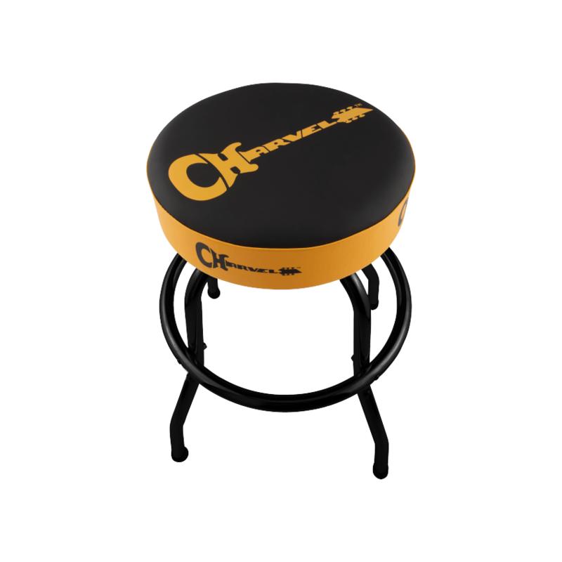 Fender NEW Charvel Guitar Logo Barstool - Black/Yellow