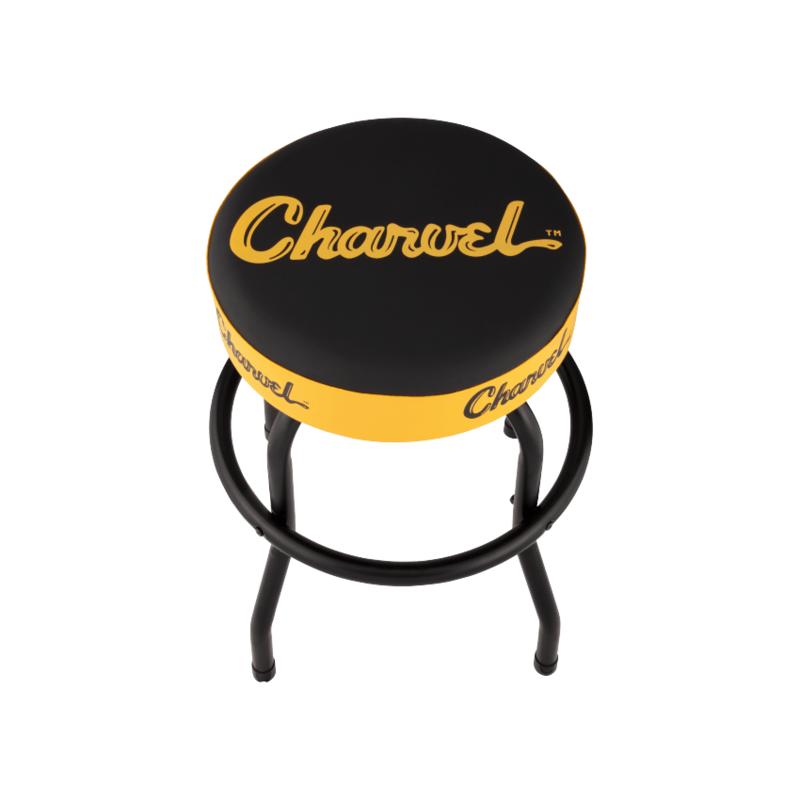 Fender NEW Charvel Toothpaste Logo Barstool - Black/Red/Yellow